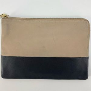 ❤️🔥sold❤️🔥Celine bicolor solo clutch leather